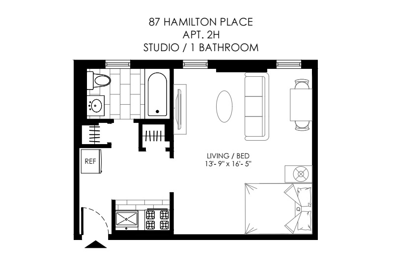 87 Hamilton Place #2H in Hamilton Heights, Manhattan