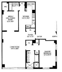 floorplan for 130 West 30th Street #5A