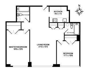 floorplan for 61 West 62nd Street #11G