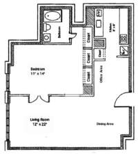 floorplan for 220 East 65th Street #15J