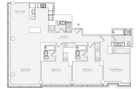 floorplan for 1 River Terrace #25D