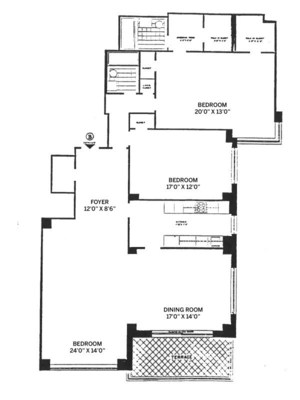 floorplan for 150 East 69th Street #12B