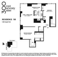 floorplan for 300 East 79th Street #5B
