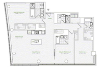 floorplan for 1 River Terrace #7H