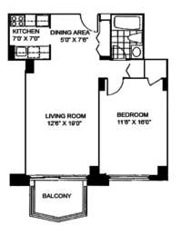floorplan for 220 East 65th Street #4F