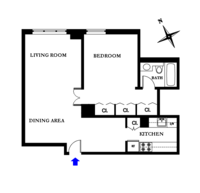 floorplan for 220 East 65th Street #21J