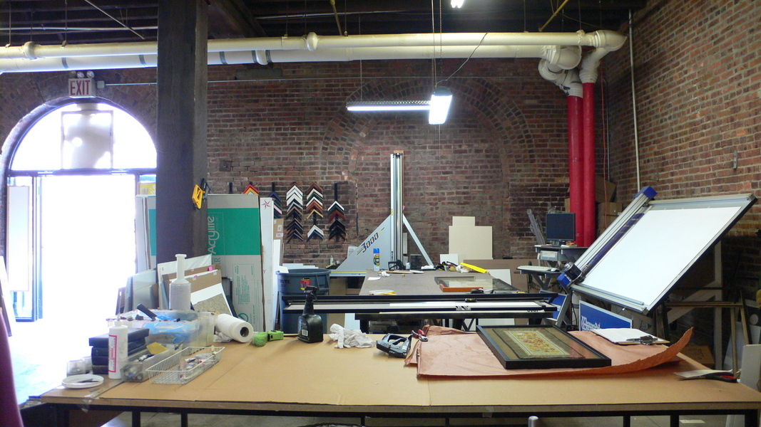Turn-key commercial frame shop/studio