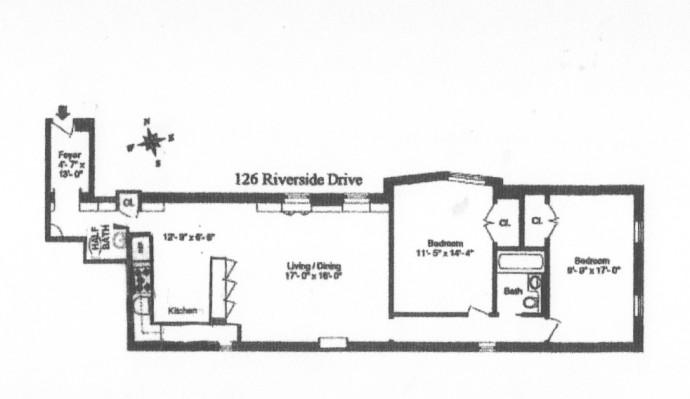 126 Riverside Drive #5C