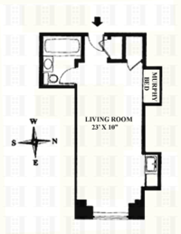 floorplan for 5 Tudor City Place #1334