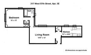 317 West 87 #3E