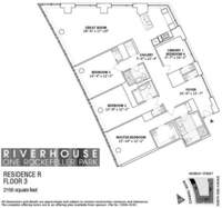 floorplan for 1 River Terrace #3R