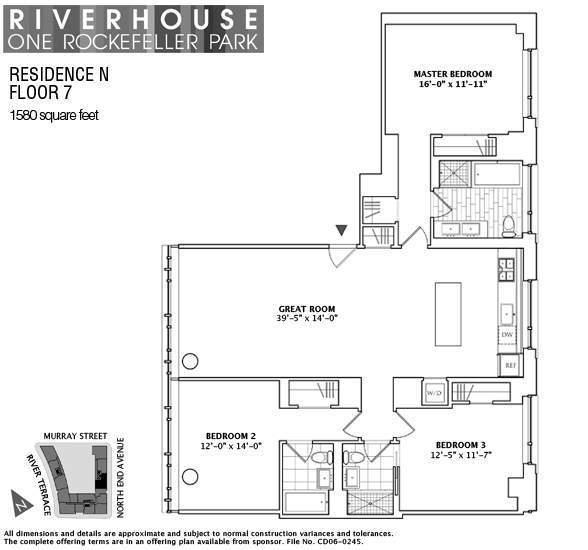 1 river terrace 7n condo apartment sale at riverhouse for 1 river terrace battery park city