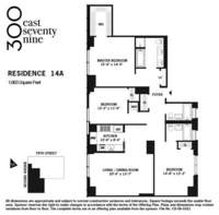 floorplan for 300 East 79th Street #14A