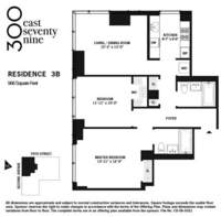 floorplan for 300 East 79th Street #3B