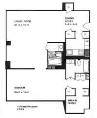 floorplan for 1 River Terrace