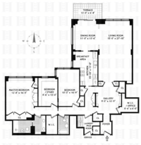 floorplan for 150 East 69th Street #29H