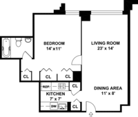 floorplan for 220 East 65th Street #17A