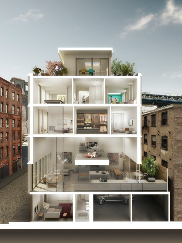 Dumbo Contemporary Townhouse w/ Parking