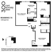 floorplan for 300 East 79th Street #7C