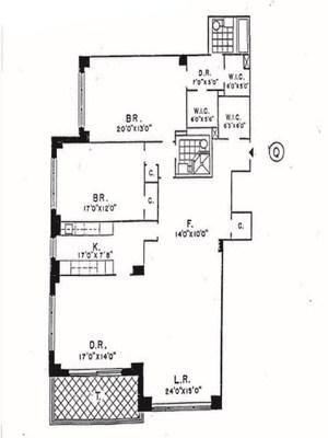 floorplan for 150 East 69th Street #18Q