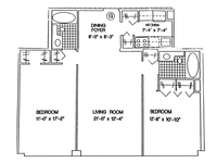 floorplan for 61 West 62nd Street #27G