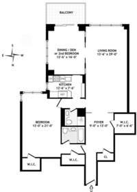 floorplan for 150 East 69th Street #18L