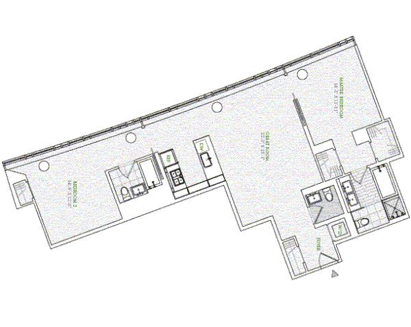 1 river terrace 3s condo apartment sale at riverhouse for 1 river terrace battery park