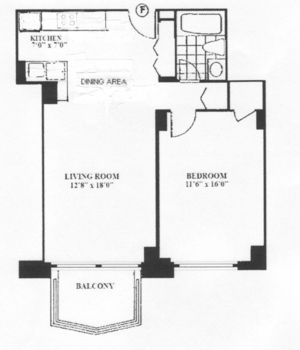 floorplan for 220 East 65th Street #6F