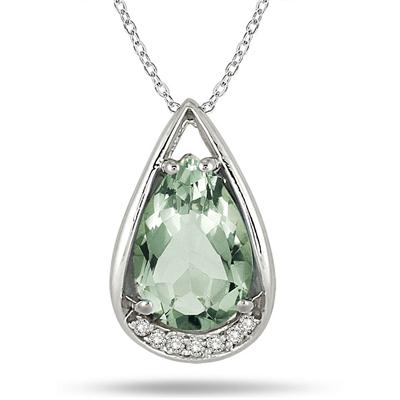 3.75 Carat Pear Diamond Teardrop Pendant