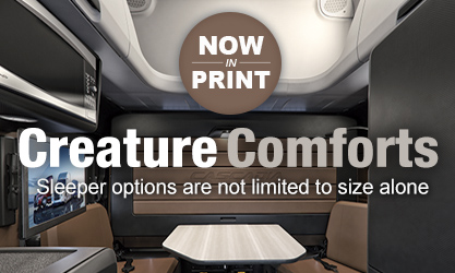 IN PRINT -- Creature Comforts: Sleeper options not limited