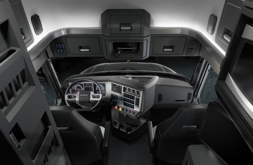 One of the most prominent changes in the cab is a flat-bottomed steering wheel, to improve entry and exit.