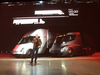 Musk was quick to outline speed-related advantages over diesel.