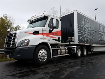 We tested our X12 in a Cascadia daycab on interstate and two-lane highways in Western New York, near Cummins' Jamestown plant.