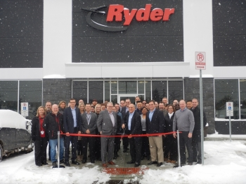 Ryder's new facility was recently celebrated with a ribbon-cutting ceremony.