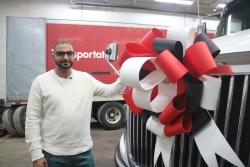 Ickroop Mangat with his new Kriska Truck