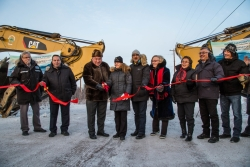 The official ribbon cuting on the road to Tuktoyaktuk Photo credit the Government of the Northwest Territories