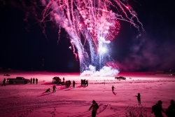 Fireworks on the road to Tuktoyaktuk Photo credit the Government of the Northwest Territories