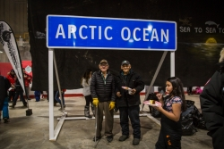 The sign indicating the Arctic Ocean to be used on road to Tuktoyaktuk Photo credit the Government of the Northwest Territories