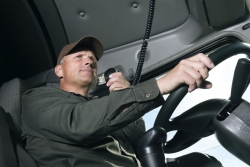 Driver using a CB radio
