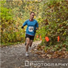 Runner on the Carkeek Park trail run course