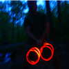 glow sticks and trails