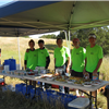Our great volunteers welcome you at fully-stocked aid stations