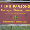 Lake entrance sign