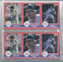 1986 STAR WADE BOGGS COLLECTION