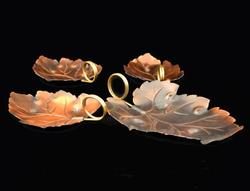 Beautiful Set of 4 Coppercraft Guild Copper Nut Dishes