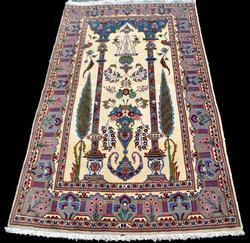 Garden Design Handmade Persian Kashan Rug 5x3