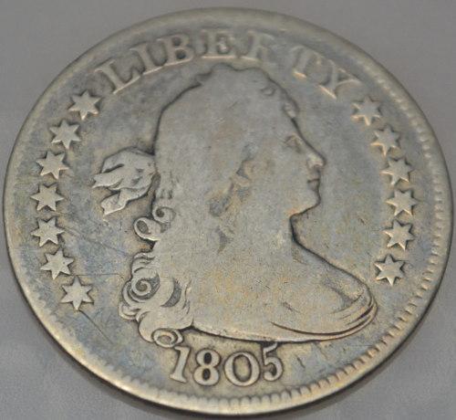 Rare Early US Quarter 1805 B-2