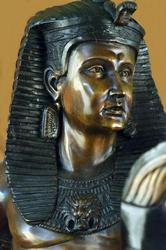 Heavy Bronze Sculpture on Black Marble Base