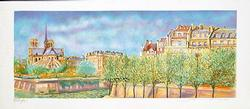 BEAUTIFUL COUNTRY SCENE COLOR LITHO