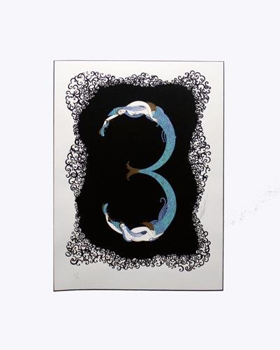 WONDERFUL ERTE SERIGRAPH HAND SIGNED NUMBER 3 FROM 1976